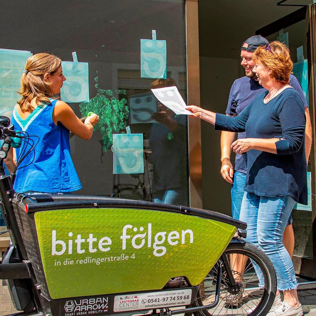 Neueröffnung Osnabrück: dasökolädchen in der Redlingerstraße. Christina Herzig, Marius Herzig und Heiko Rose starten mit dem neuem Ladenkonzept.