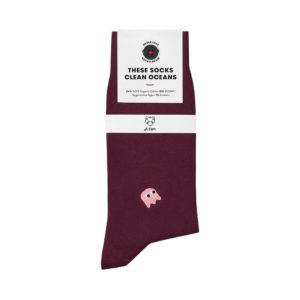 Nachhaltige Socken Adam Socks in stan bordeaux online kaufen.