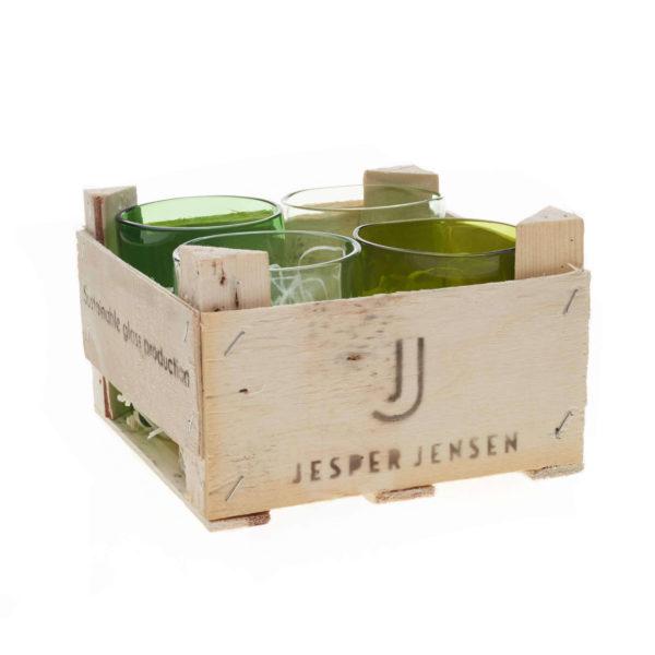 Gläser klein - 4er Set in Holzbox 2