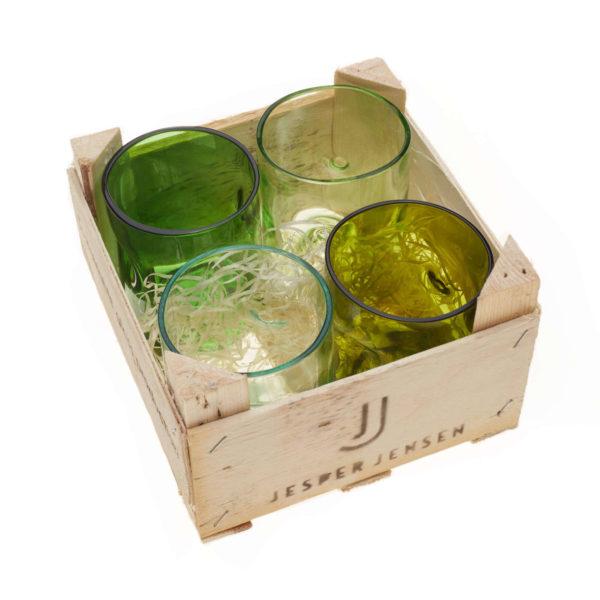 Gläser klein - 4er Set in Holzbox 1