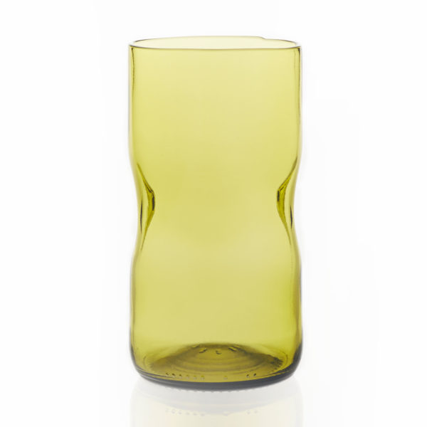 Glas groß - gelbgrün 1