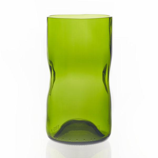 Glas groß - olivegrün 1