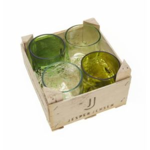 Jesper Jensen Gläser. 4er Set. Gläser aus alten Flaschen