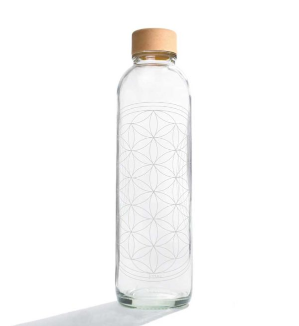 Glastrinkflasche Flower of Life - 0,7 l