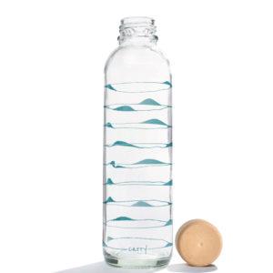 Glastrinkflasche Ocean Waves - 0,7 l