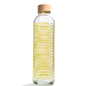 Glastrinkflasche Yellow Twist - 0,7 l