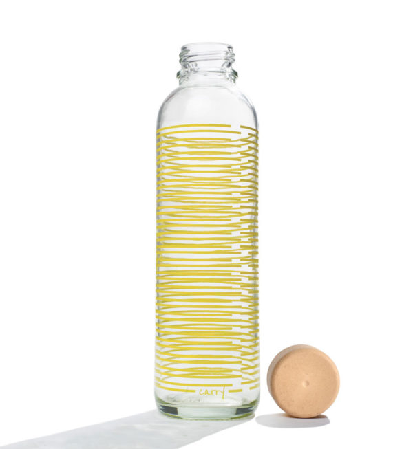 Glastrinkflasche Yellow Twist - 0,7 l