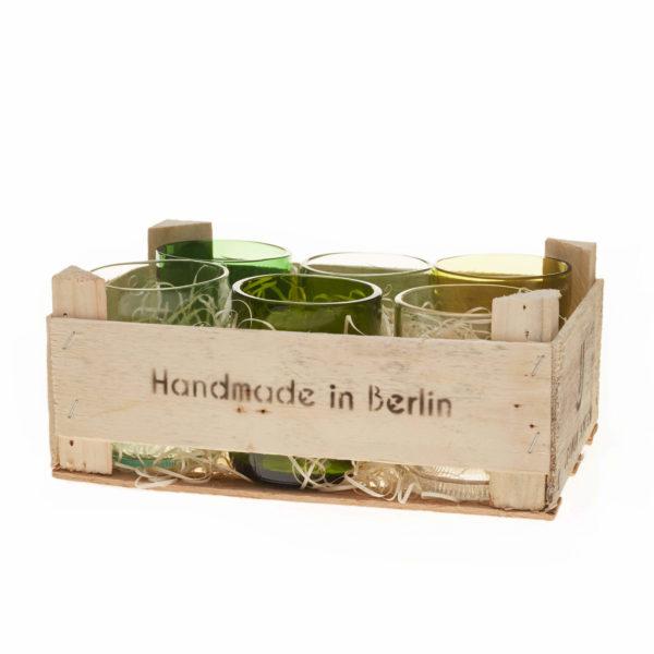 Gläser klein - 6er Set in Holzbox 2