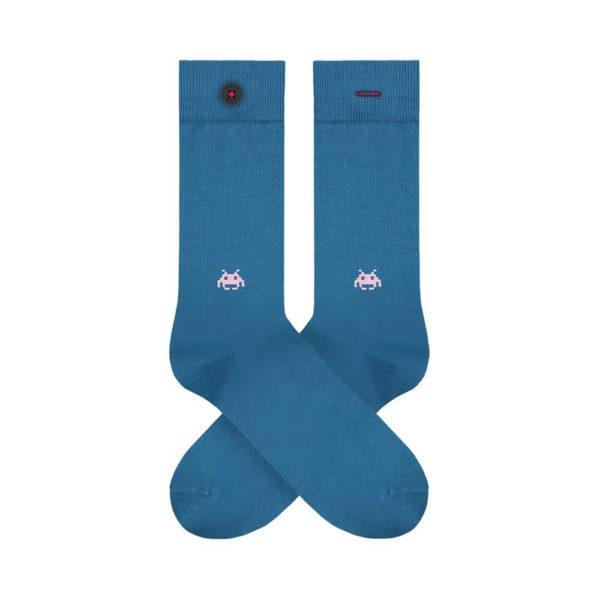 Nachhaltig produzierte Socken Adam Socks in julien blau online kaufen.