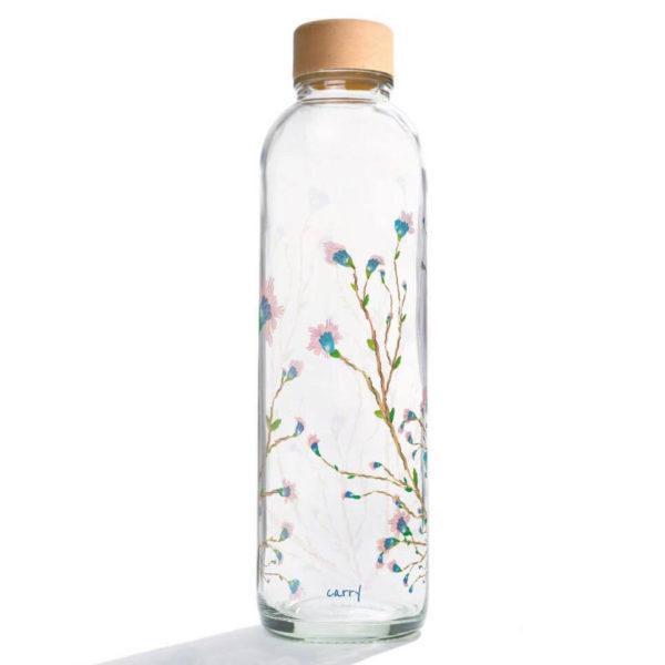 Carry Bottle Hanami Trinkflasche aus Glas mit Holzdeckel. Bei das ökolädchen online kaufen