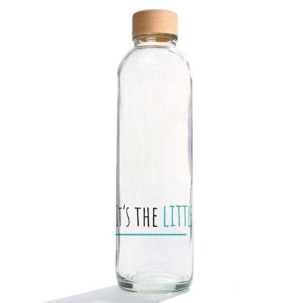 Carry Bottle little things Trinkflasche aus Glas mit Holzdeckel. Bei das ökolädchen online kaufen