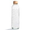 Glastrinkflasche Carry Bottle structure of life Trinkflasche aus Glas mit Holzdeckel. Bei das ökolädchen online kaufen