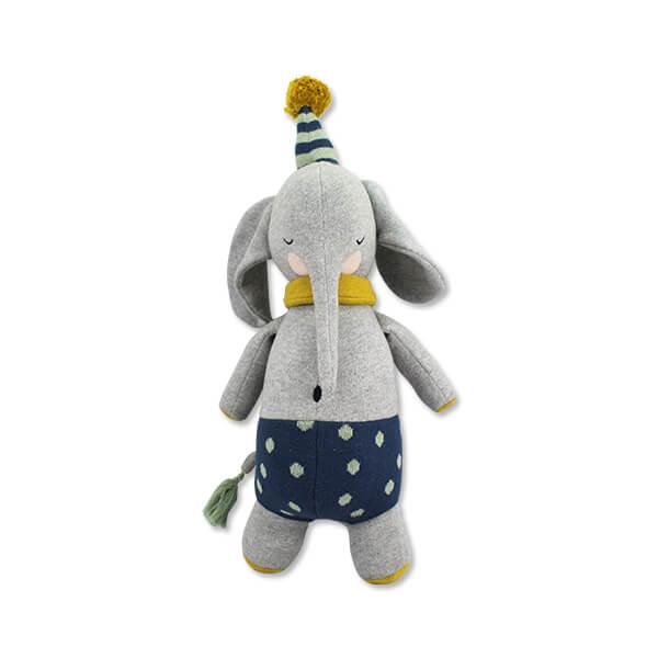 Kuscheltier Elefant Tonie von Ava und Yves. Spielzeug für Kinder. Geschenk für die Geburt. Nachhaltig und Ökologisch, aus 100 & Biobaumwolle