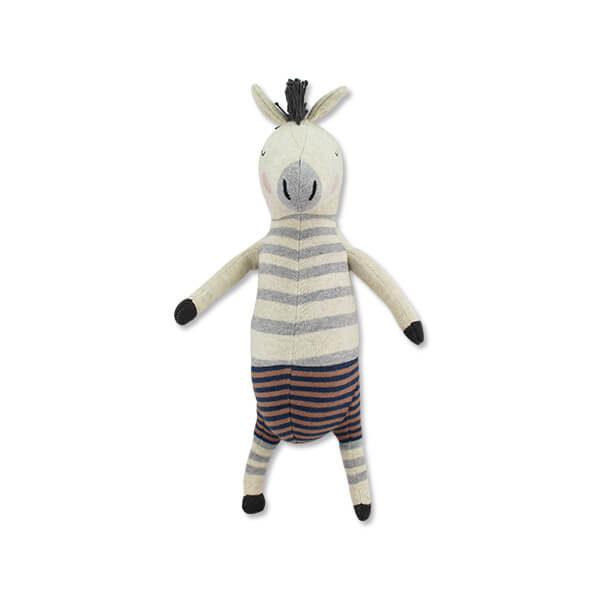 Kuscheltier Zebra Remy von Ava und Yves. Spielzeug für Kinder. Geschenk für die Geburt. Nachhaltig und Ökologisch, aus 100 & Biobaumwolle