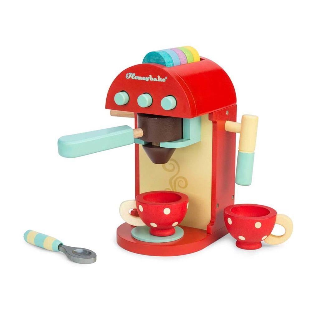 Kaffeemaschine aus Holz, Holzspielzeug von Le Toy Van für Kinder, online kaufen bei das ökolädchen
