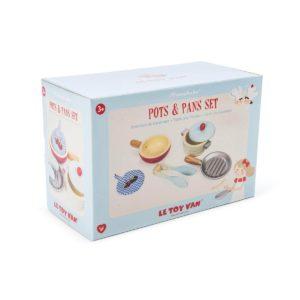 Le Toy Van Töpfe und Pfannen Set Kinderspielzeug, Holzspielzeug