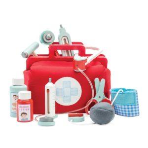 Le Toy Van Arztkoffer Kinderspielzeug, Holzspielzeug roter Arztkoffer