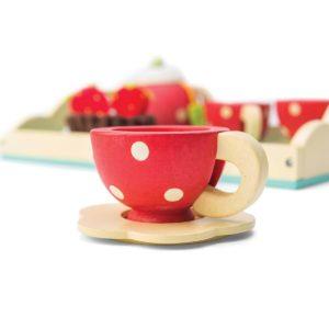 Le Toy Van Honeybaker Tee Set Kinderspielzeug, Holzspielzeug roter Arztkoffer