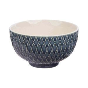 Dezent gemusterte Keramikschale TILL von Tranquillo