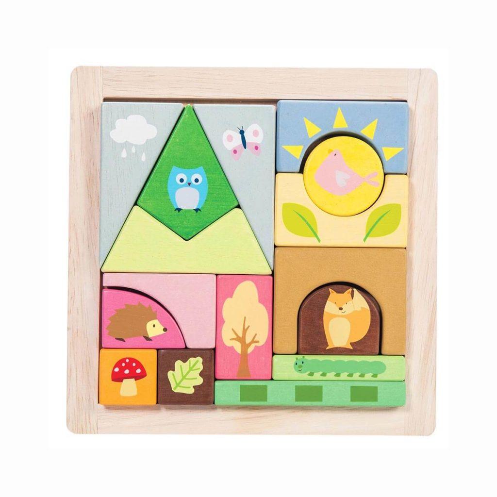 Ley Toy Van Holzpuzzle wald puzzle mit tieren
