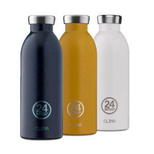 24 Bottles Clima Bottles Hammerschlag in verschiedenen Farben online kaufen bei das ökolädchen