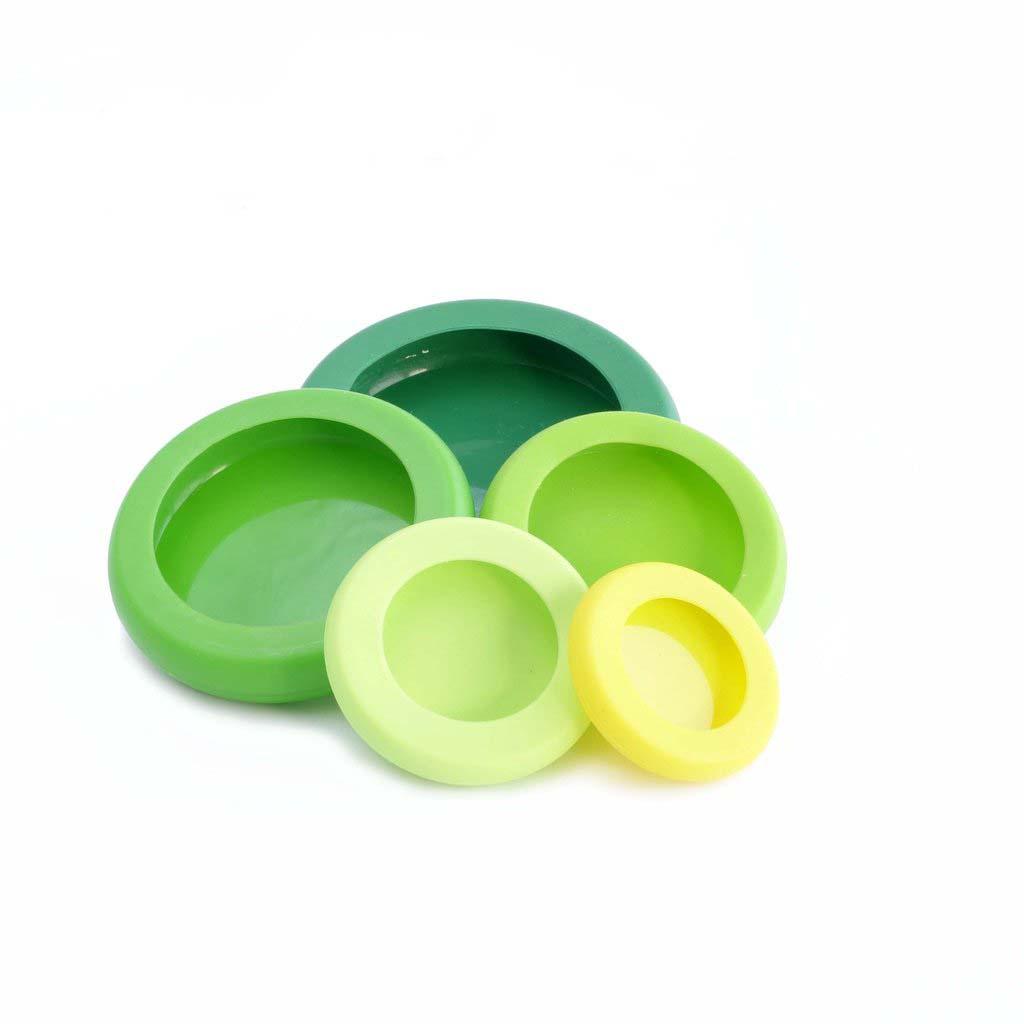 Silikon Frischhalte und Abdeckhaube von original Food huggers in grün