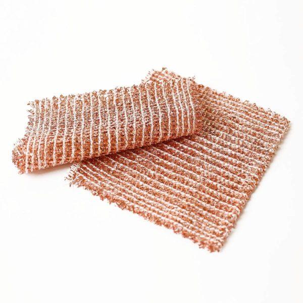 Reinigungstuch aus Kupfer von Recker, reinigt schonen alle Oberflächen. 100% Recyclebar.