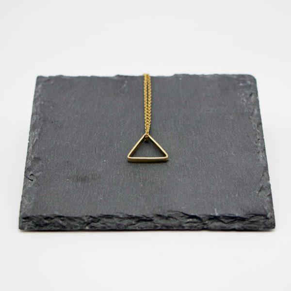 Halskette Shapes Messing, Dreieck 1