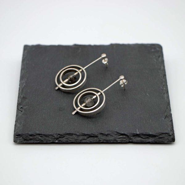 Ohrringe Solar, Silber/Rutil, schwarz 1