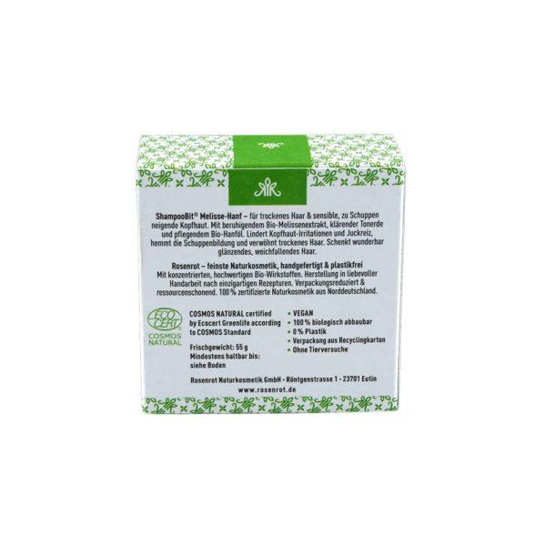 festes Shampoo Melisse-Hanf - 55 g 3