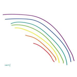 Glastrinkflasche Rainbow - 0,7 l 5