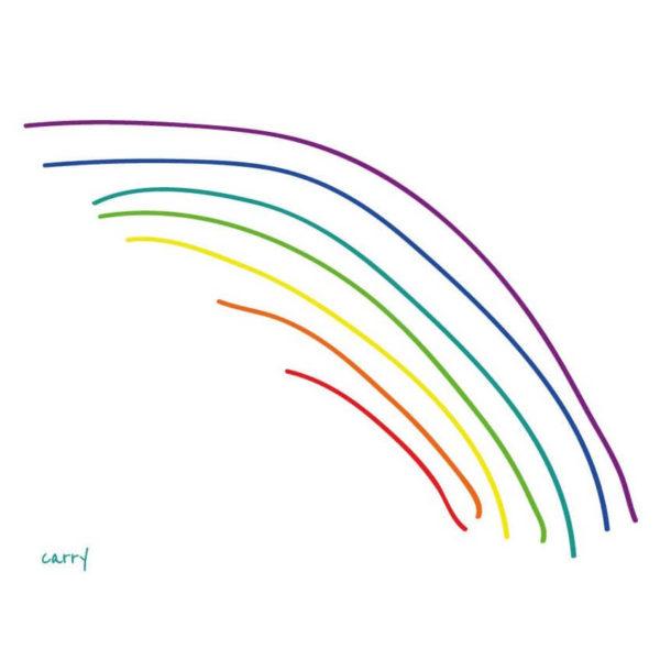 Glastrinkflasche Rainbow - 0,7 l 3