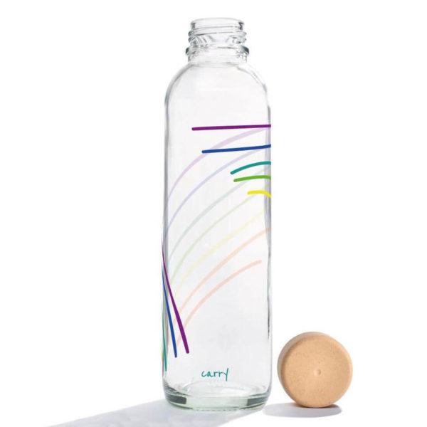 Glastrinkflasche Rainbow - 0,7 l 2