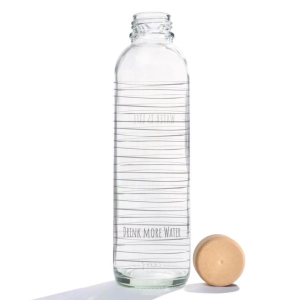 Glastrinkflasche Water is Life - 0,7 l 1