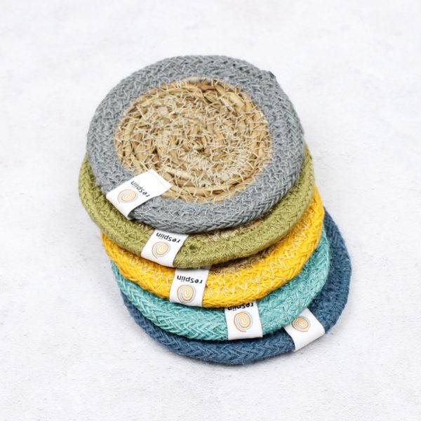 Untersetzer aus Seegras und Jute - verschiedene Farben 1