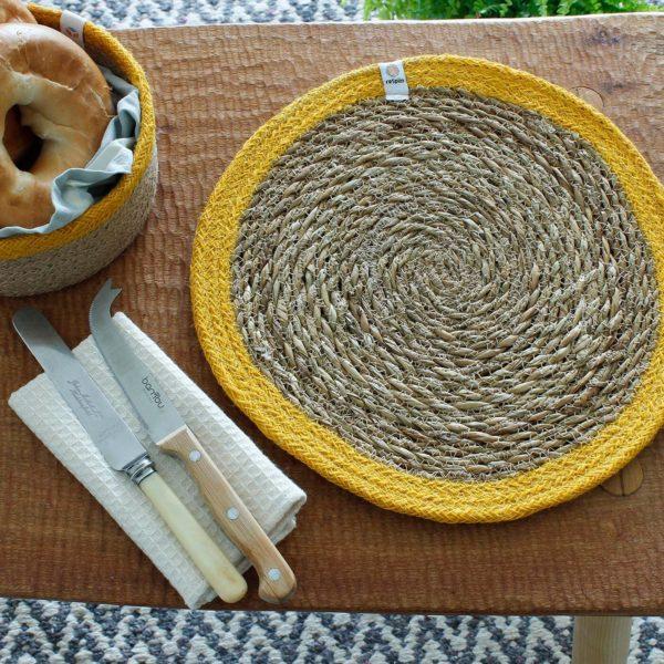 Tisch-Set aus Seegras und Jute - verschiedene Farben 2