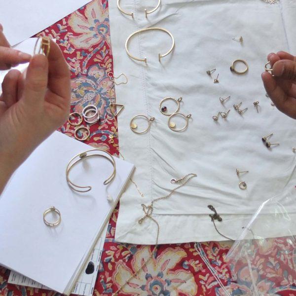Halskette Shapes Silber, Dreieck 2