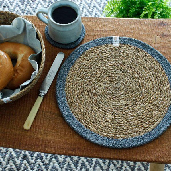 Tisch-Set aus Seegras und Jute - verschiedene Farben 1