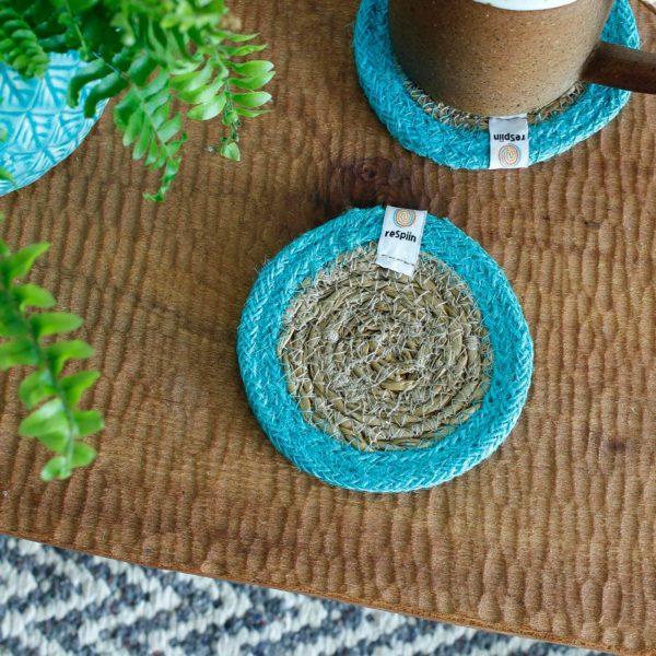 Untersetzer aus Seegras und Jute - verschiedene Farben 2