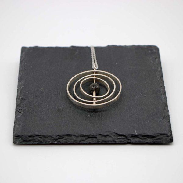 Halskette Solar Silber - Rutil schwarz 1