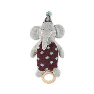 Strickspieluhr Elefant mit Hütchen