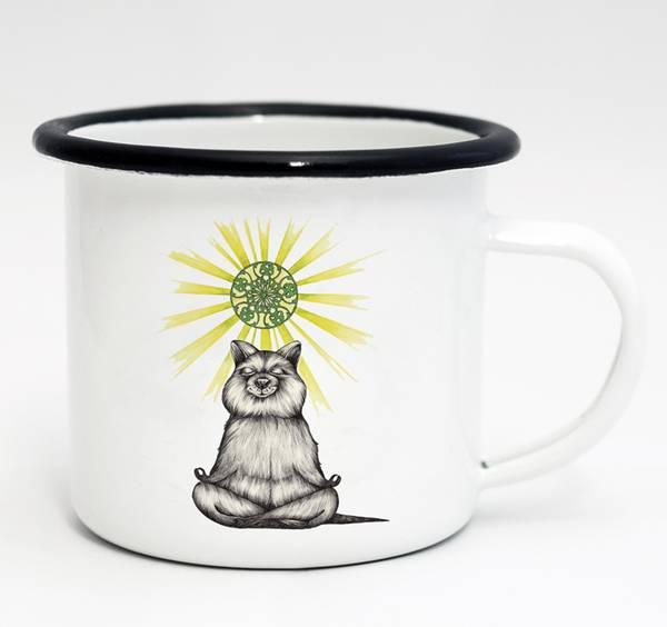 Emaille-Tasse, Yogibär, 300 ml 1