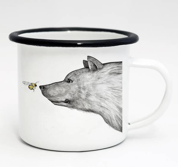 Emaille-Tasse, die Begegnung, 300 ml 1