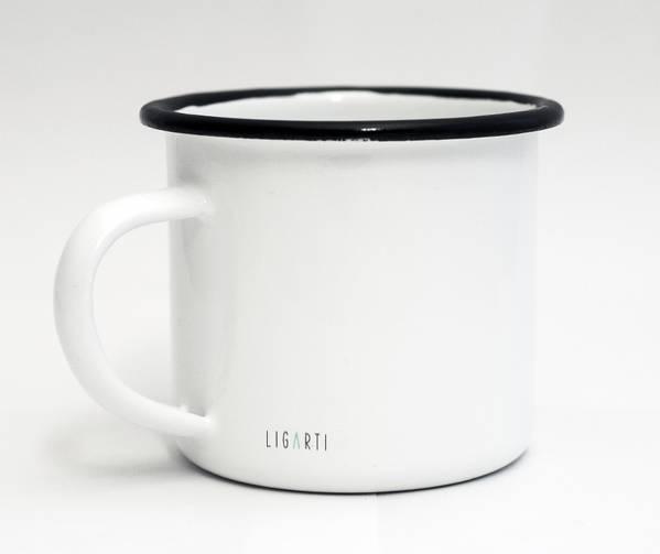 Emaille-Tasse, die Begegnung, 300 ml 2
