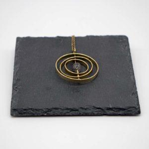Halskette Solar Messing - Rutil schwarz 5