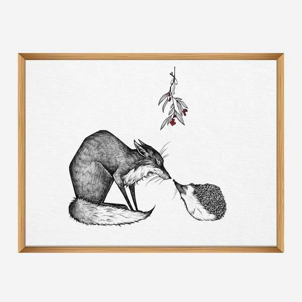 Kunstdruck Fuchs und Igel - DIN A3 1