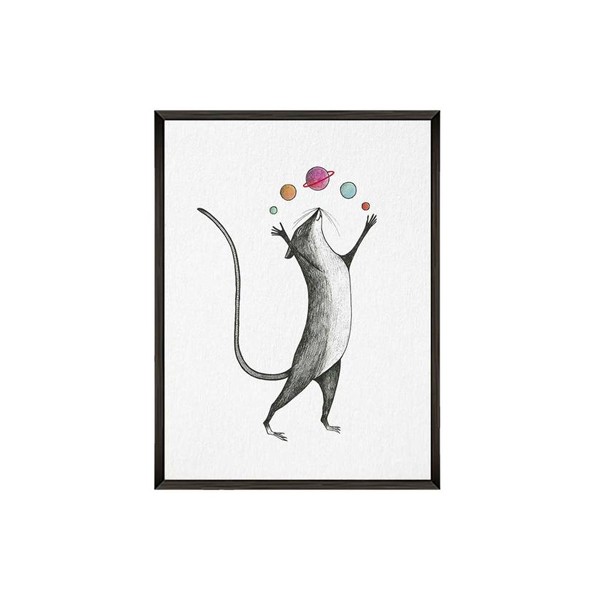 Kunstdruck Planetenmaus - DIN A4 1
