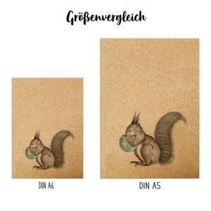Notizbuch Eichhörnchen Welt - DIN A6 5