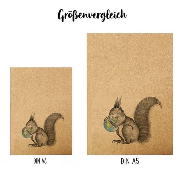 Notizbuch Eichhörnchen Welt - DIN A6 3
