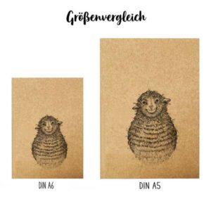 Notizbuch, Wollfried, DIN A6 5